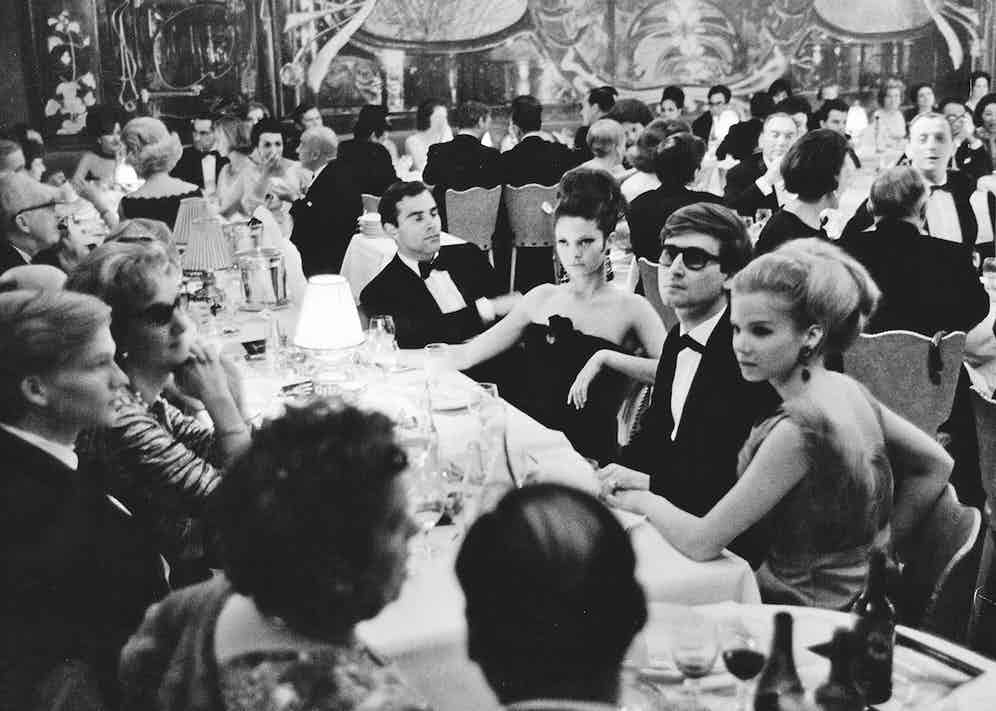 A black-tie banquet in Gstaad