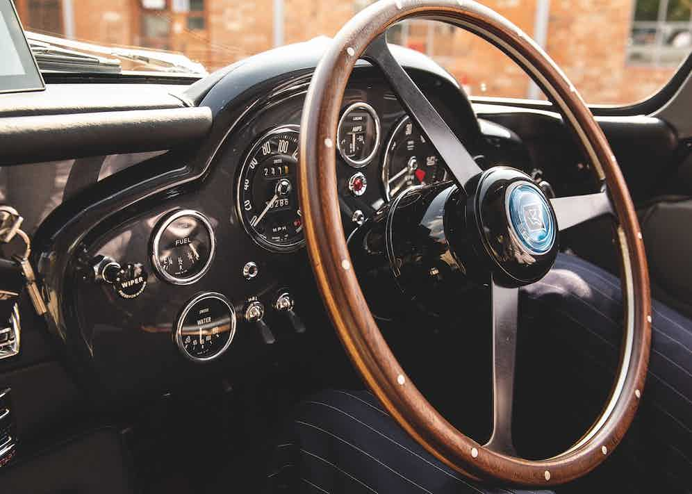 The cockpit with fittings that match the original