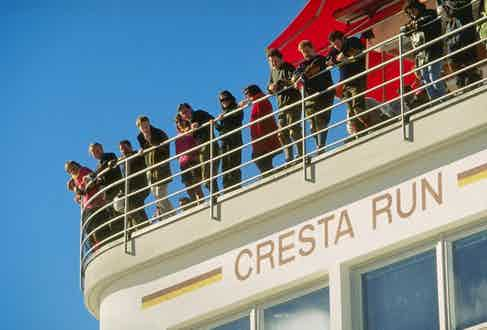 The Cresta run at St. Moritz in Switzerland, 1997. Mandatory Credit: Anton Want/Allsport