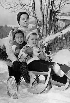 Princess Grace of Monaco with her two children (Photo by Popperfoto via Getty Images/Getty Images)