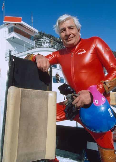 Gunter Sachs at The Cresta Run in St. Moritz, 1992 Photo by Action Press/REX Shutterstock (198614a)