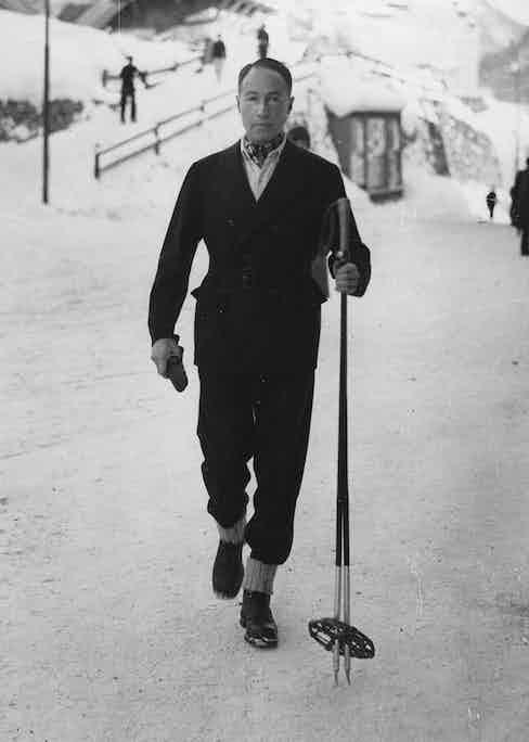 601 alumnus Sir Philip Sassoon in St. Moritz, circa 1930 (Photo via Getty)