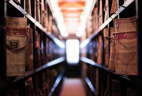 The archives in Biella, Italy