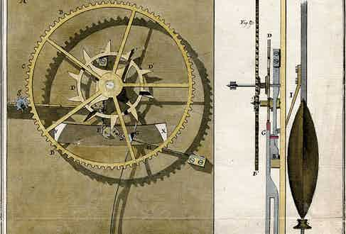 A drawing of the mechanism that would become globally renowned and endure through centuries