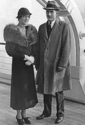 John D. Rockefeller Jr. with his wife, Abigail Greene Aldrich, 1932