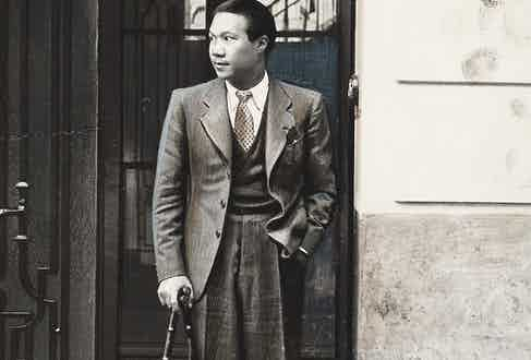 The emperor outside a hotel in Paris, circa 1940 (Photo by Unidentified Author/Alinari via Getty Images)