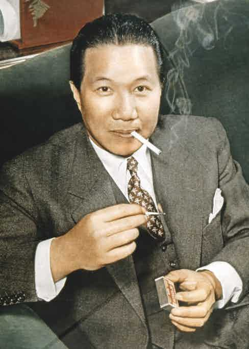 Bao Dai lights up, 1949 (Photo via Getty)