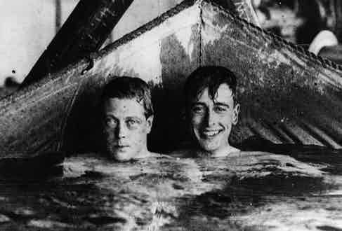 The Prince of Wales with Mountbatten on board H.M.S. Renown, circa 1920 Photo by Central Press/Getty Images)