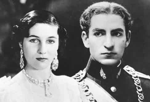 With his then fiancée, Princess Fawzia of Egypt, 1939 Photo by Fox Photos/Getty Images)