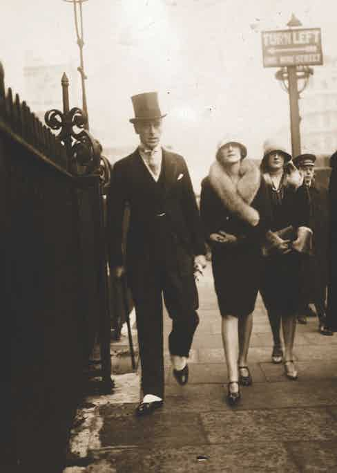 Lord and Lady Mountbatten in London, 1926  (Photo by Topical Press Agency/Getty Images)