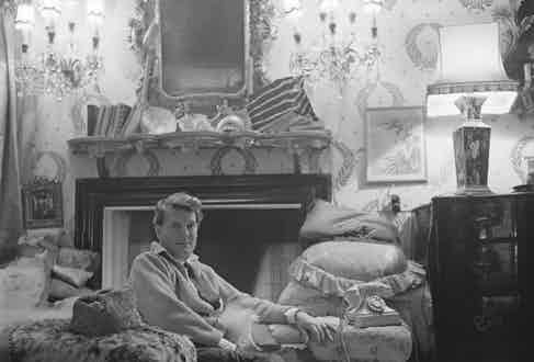 Portrait of British aristocrat and socialite Stephen Tennant (1906 - 1987) at his home in Wilsford manor, Wiltshire, 1963 (Photo by The John Deakin Archive/Getty Images)