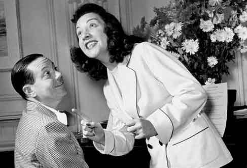 With Ethel Merman as they rehearse for his musical DuBarry was a Lady, 1939  (Photo by George Karger/Pix Inc./The LIFE Images Collection/Getty Images)