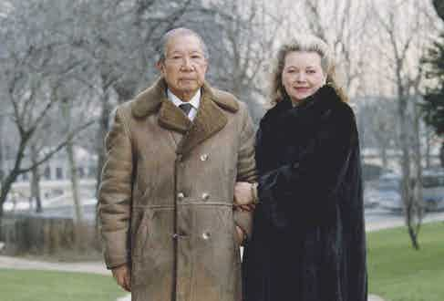 Bao Dai in his later years with his wife, Monique Vinh Thuy, in Paris. Photo by Reuter Raymond/Sygma via Getty Images)
