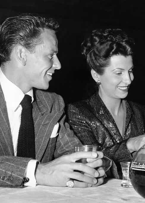 Frank Sinatra with his wife Nancy at Slapsie Maxie's night club Los Angeles, California, 1946 (Photo by Underwood Archives/Getty Images)