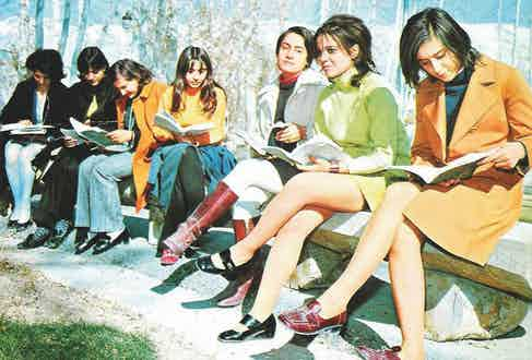 A group of Iranian students in the 1960