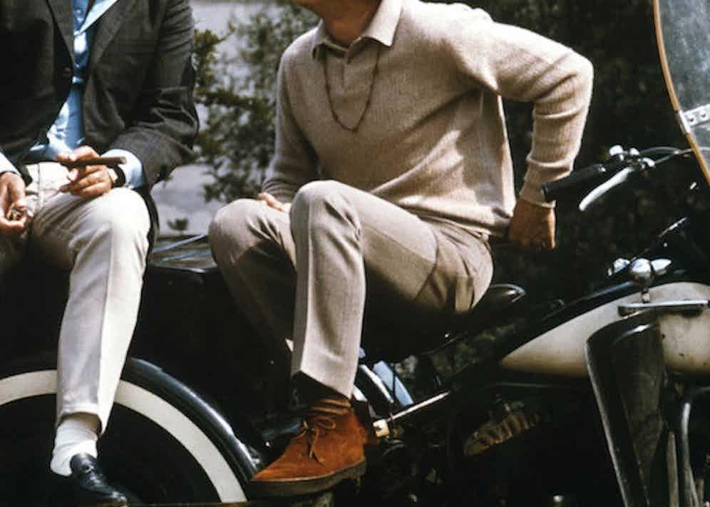 Steve McQueen wearing chukka boots