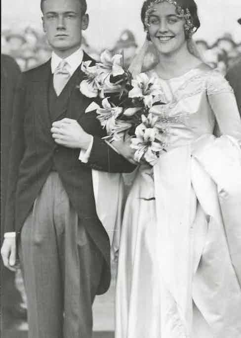 Bryan Guinness (later 2nd Baron Moyne) and Bride Diana Mitford on their Wedding Day at St Margaret's, Westminster in 1929  Photo by Neal/ANL/REX/Shutterstock (3820550a)