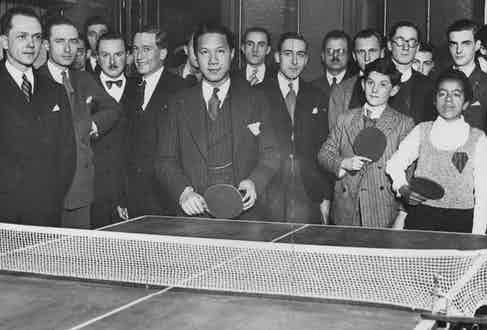 Playing ping-pong in France, 1932 Mandatory Credit: Photo by ANL/REX/Shutterstock (5832233a)
