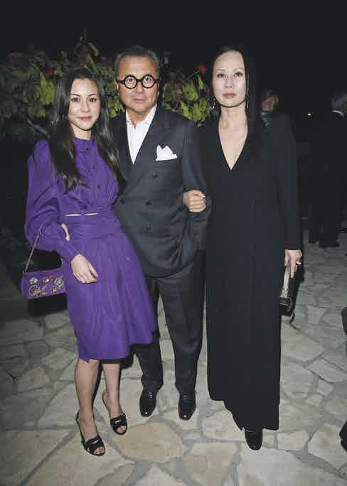 Michael, Eva and their daughter, China at a pre-Oscars party, 2007 Photo by Donato Sardella/Penske Media/REX/Shutterstock (6058154q)