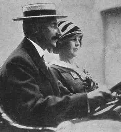 John Jacob Astor with his second wife, Madeleine, 1912 Photo by Historia/REX/Shutterstock (7665073r)
