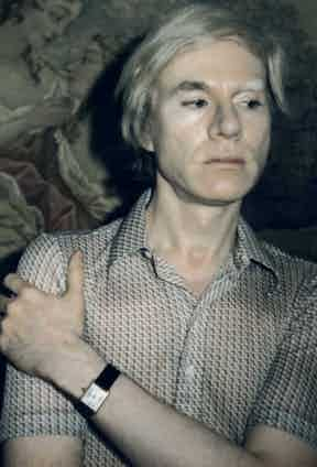 A print of a Polaroid self-portrait by Andy Warhol