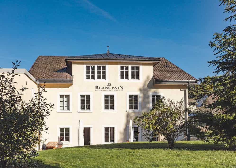 The Blancpain manufacture in Le Brassus, Switzerland