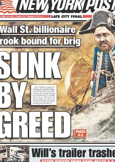 Cover of the New York Post