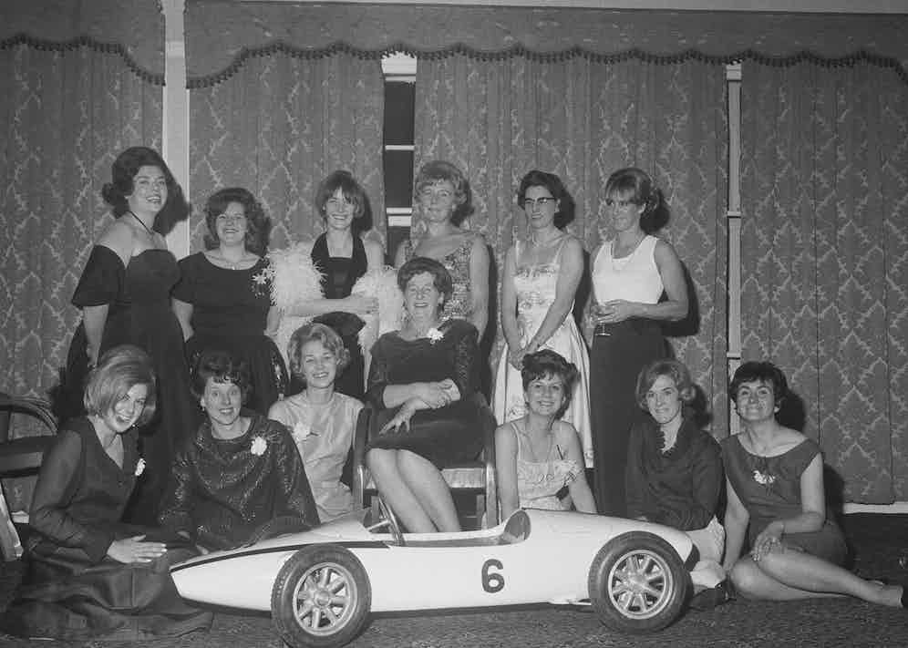 Trailblazers Lella Lombardi; Liane Engeman; Shirley Muldowney; and members of the British Women Racing Drivers Club. (Photo by John Downing/Daily Express/Hulton Archive/Getty Images)