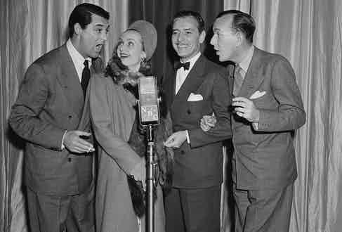 A quartet comprised of Cary Grant, Carol Lombard, Ronald Colman and Noel Coward, circa 1940 (Photo by: NBCU Photo Bank)