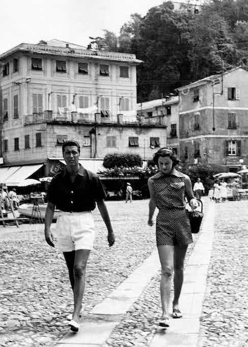 Consuelo and Rudi Crespi in Portofino (Photo by Mondadori via Getty Images)