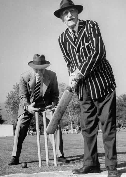 C. Aubrey Smith and Henry Stephenson at the Hollywood Cricket Club, 1948