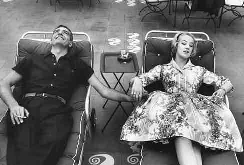Reclining alongside Barbara Cailleux (Photo by Ralph Crane//Time Life Pictures/Getty Images)