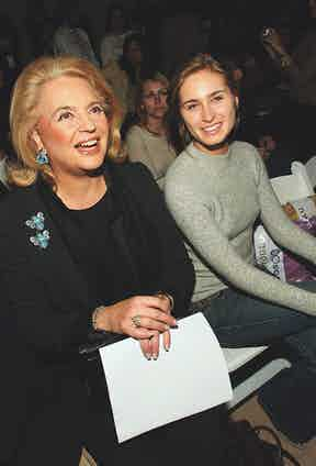 Next to Lauren Bush at Olympus Fashion week, 2005  (Photo by Thos Robinson/Getty Images)