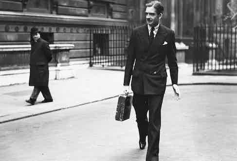 Sir Anthony Eden looking tremendously smart in a double-breasted suit (Photo via Getty)