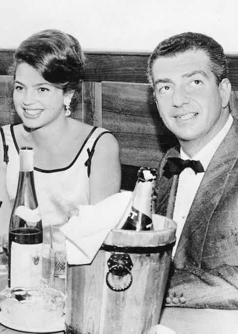 With Princess Ira von Fürstenberg in 1960 (Photo by ullstein bild/ullstein bild via Getty Images)