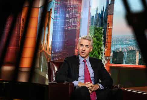 Bill Ackman during a Bloomberg television interview in New York, 2017 (Photographer: Christopher Goodney/Bloomberg/Getty)