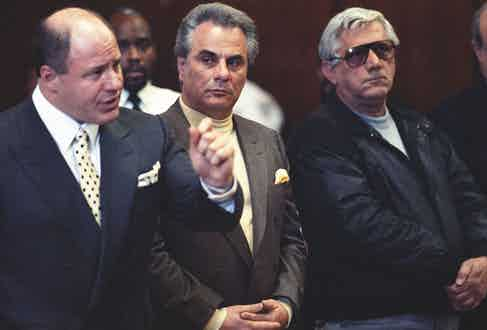 Gotti with his lawyer Bruce Cutler, in 1989 (Photo by Robert Rosamilio/NY Daily News Archive via Getty Images)