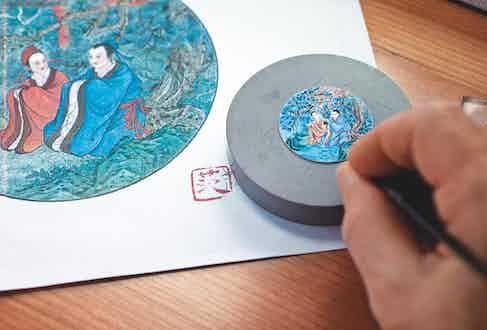 Miniature enamel painting
