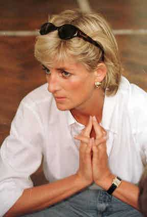 Princess Diana, seen here wearing the Cartier Tank