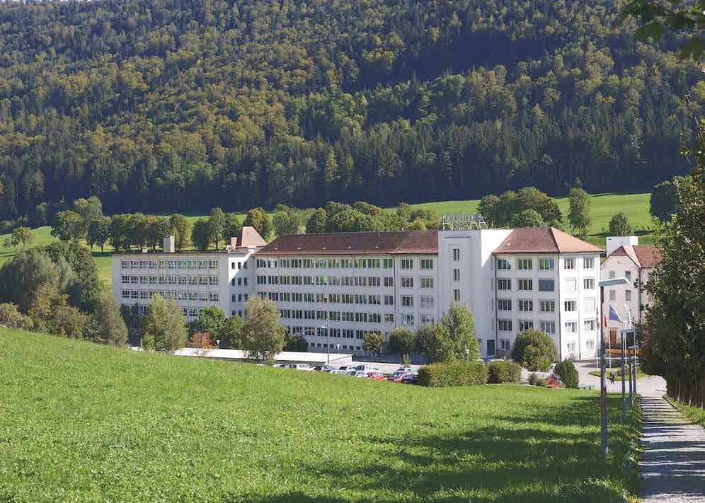 The factory in Saint-Imier, Switzerland