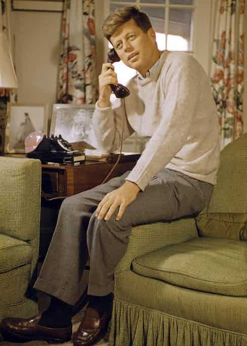 JFK on the phone