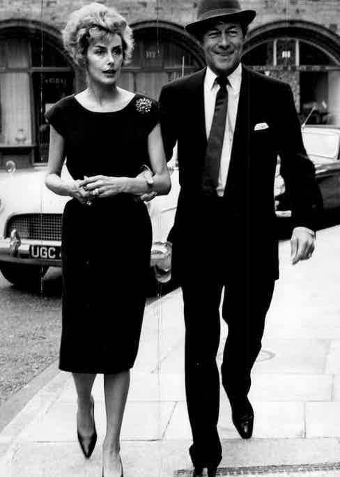Rex Harrison with his wife, the actress Kay Kendall, in 1959 (Photo by ANL/REX Shutterstock (1373700a)
