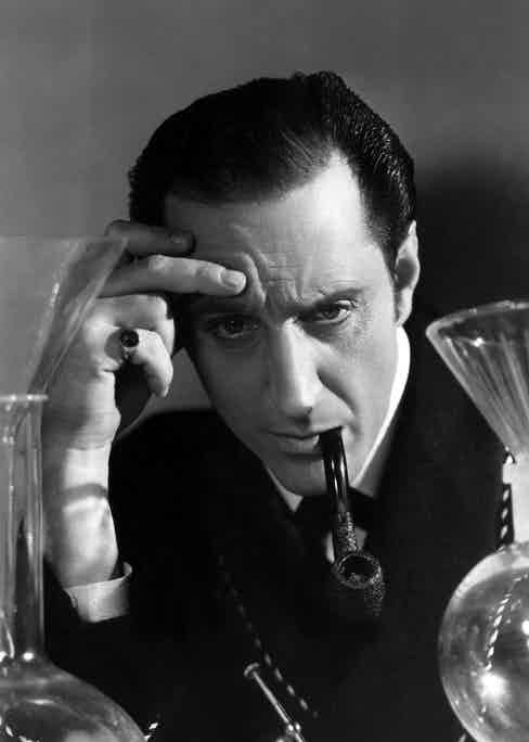 Basil Rathbone as Sherlock Holmes in The Hound of the Baskervilles in 1939 (Photo by Everett/REX Shutterstock (1410708a)