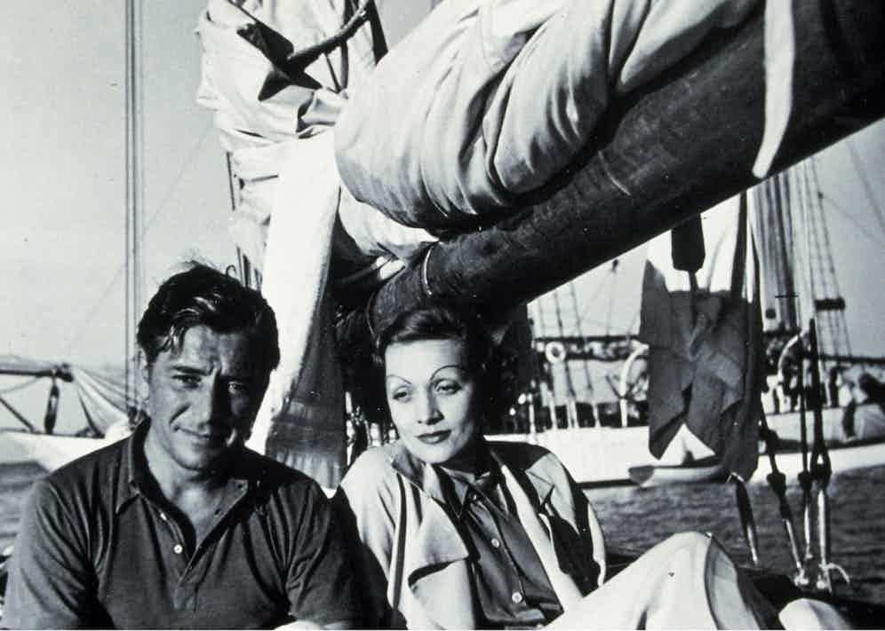 Ronald Colman sailing with Marlene Dietrich in 1937 (Photo by SNAP/REX Shutterstock (390851mg)