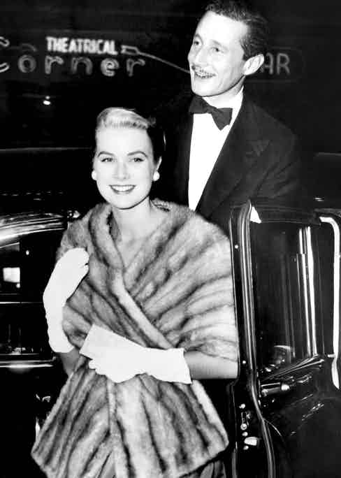 Oleg with Grace Kelly at the film premiere of Désirée, 1954 (Photo by Everett Collection/REX (568401ag)