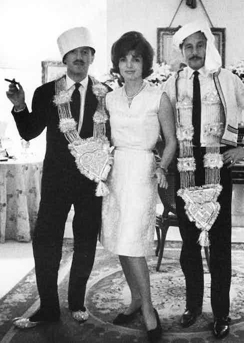 Benno Graziani, Jackie Kennedy and Oleg in 1962 Photo by Sipa Press/REX (579250b)