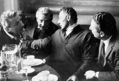Benno Graziani, Oleg Cassini, Gianni Agnelli and Igor Cassini (Photo by Sipa Press/REX (579250l)