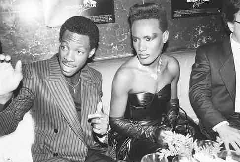 Next to Eddie Murphy at the Beverly Hills Cop premiere after-party (Photo by Alan Davidson/Shutterstock (9789312x)
