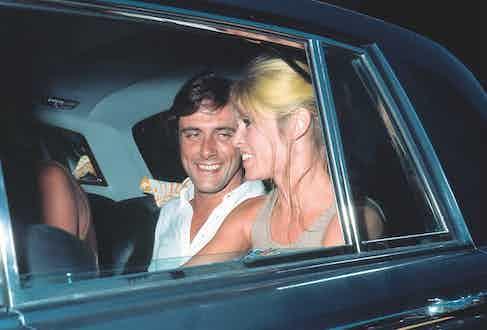 Rizzi sharing a joke with Bardot, circa 1968