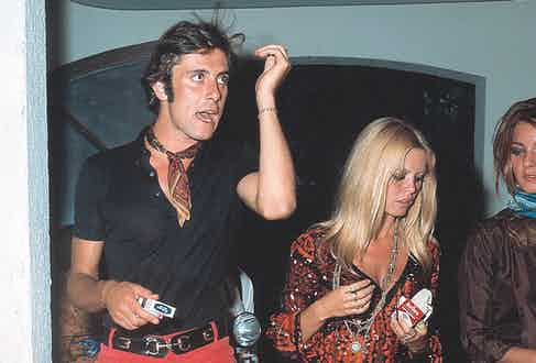 A louche-looking Gigi Rizzi with Brigitte Bardot, circa 1968.